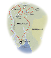 Myanmar Map small